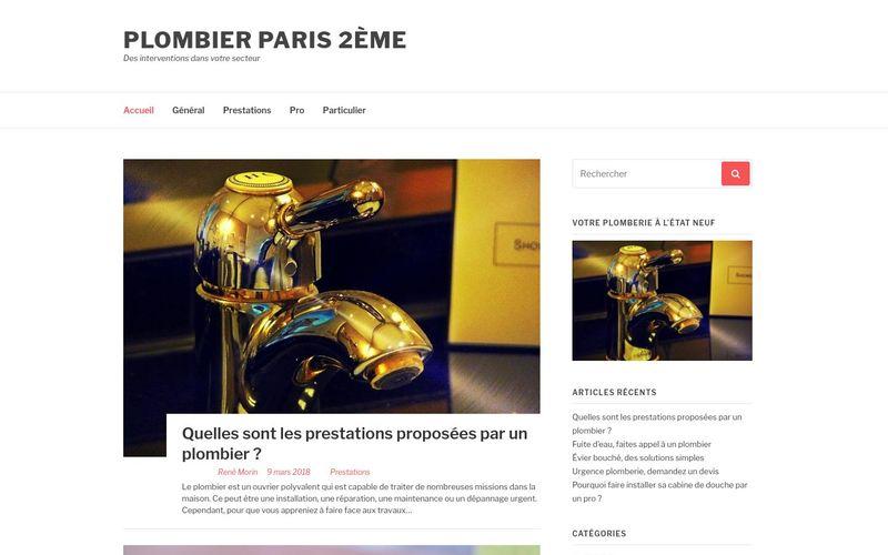 Plombier Paris 2ème - Des interventions dans votre secteur