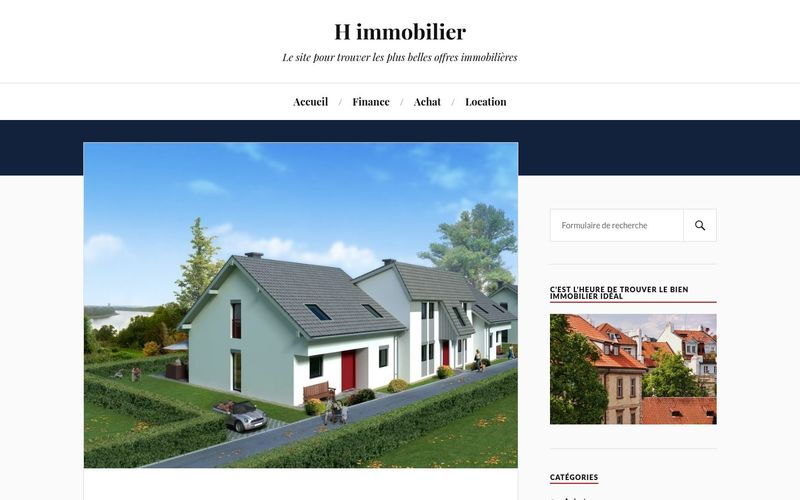 H immobilier - Le site pour trouver les plus belles offres immobilières